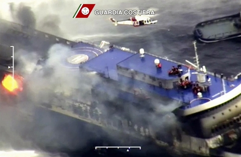 L'incendio sulla Norman Atlantic