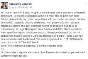 Il post di Selvaggia Lucarelli su Facebook